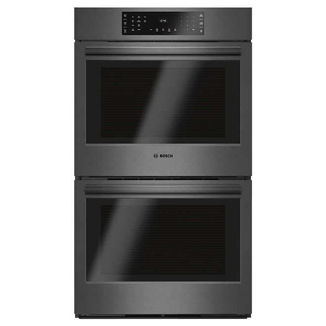 """Bosch 800 Series Double Wall Oven - 9.2 cu. ft - 30"""" - Black SS"""