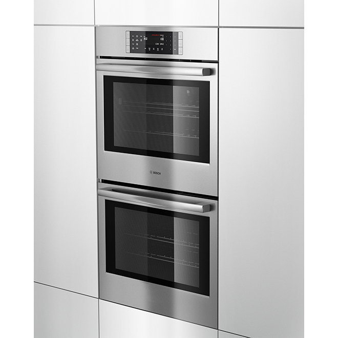 """Bosch 800 Series Double Wall Oven - 9.2 cu. ft - 30"""" - Stainless"""