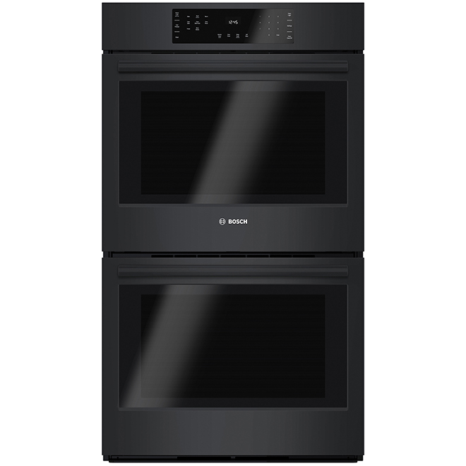 """Bosch 800 Series Double Wall Oven - 9.2 cu. ft - 30"""" - Black"""