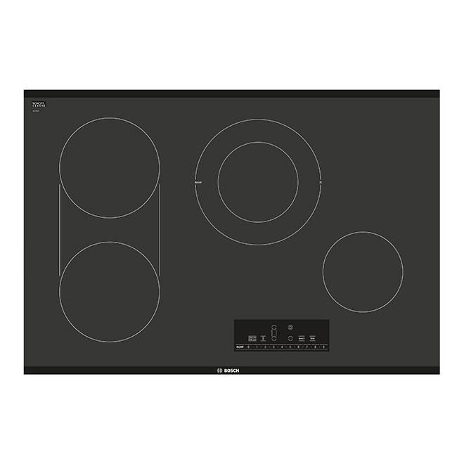 "Bosch Electric Cooktop - 4 Elements - 31"" - Black"