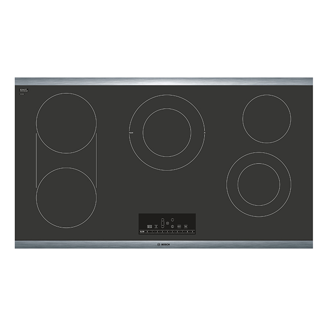 "Bosch Electric Cooktop - 5 Elements - 36"" - Stainless/Black"