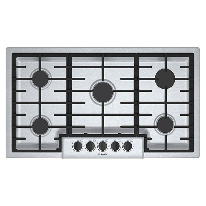 "Gas Cooktop - 5 Burners - 37"" - Stainless Steel"