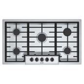 "Gas Cooktop - 5 Burners - 37"" - Stainless Steel"