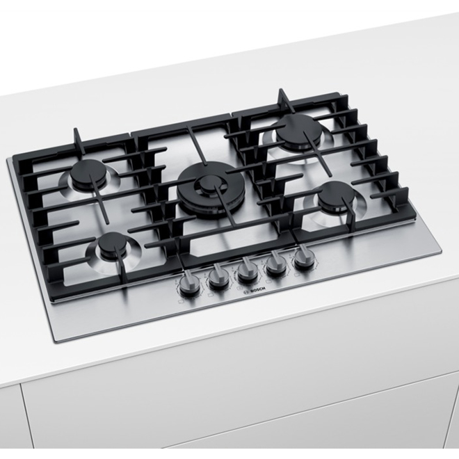 """Bosch Gas Cooktop - 5 Burners - 30"""" - Stainless Steel"""