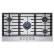 "Bosch Gas Cooktop - 5 Burners - 36"" - Stainless Steel"