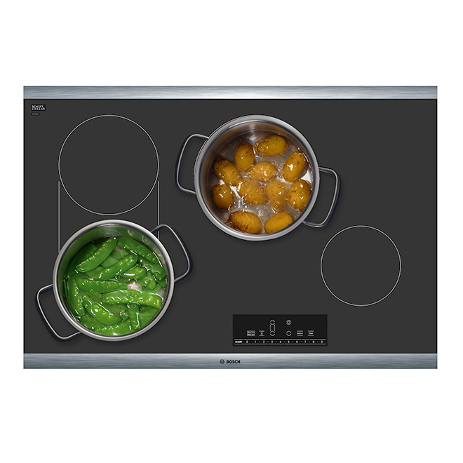 """Bosch Electric Cooktop - 4 Elements - 30"""" - Stainless Steel"""