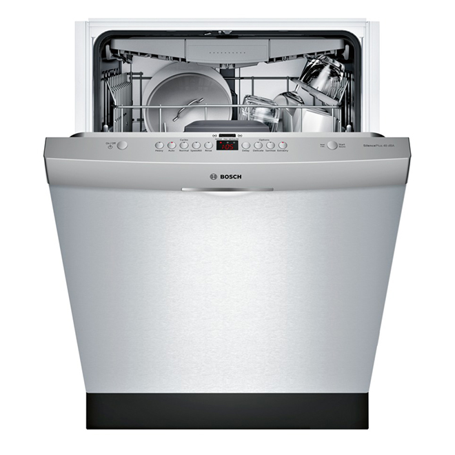 Bosch Dishwasher with RackMatic - 100 Series - 24-in - Stainless Steel - Energy Star