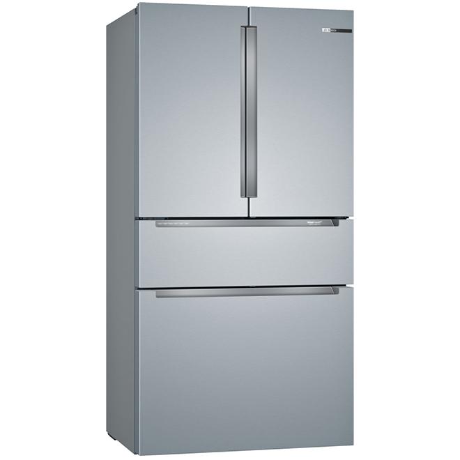 """Bosch 4-Door Refrigerator - 36"""" - Stainless Steel"""