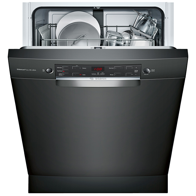 """Bosch 300 Series Built-In Dishwasher - AquaStop - 24"""" - Black"""