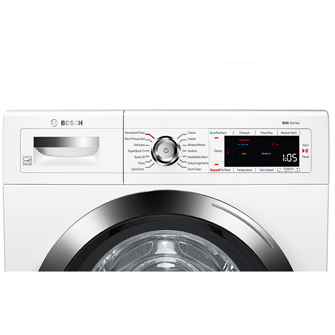 Laveuse, Bosch, chargement frontal, 24'', blanc