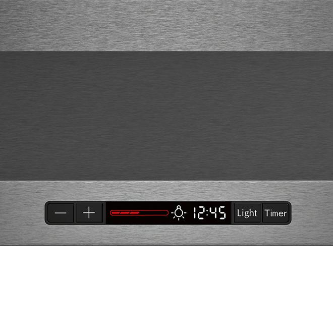 Hotte de cuisine pyramidal Bosch, 600 pcm, 30 po, inox noir