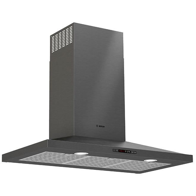 Bosch Chimney Range Hood 600 Cfm 36 Black Stainless Hcp86641uc Rona