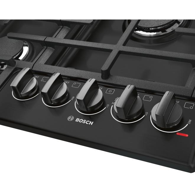 "Bosch 800 Series Gas Cooktop - 30"" - Black"