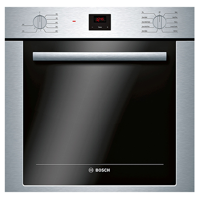 Bosch - 500 Series Single Electric Wall Oven - 24-in - 2.8 cu. ft. - Stainless Steel