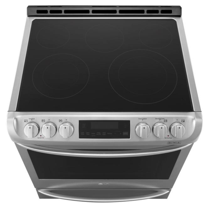 Cuisinière électrique encastrable, 6,3 pi³, inox