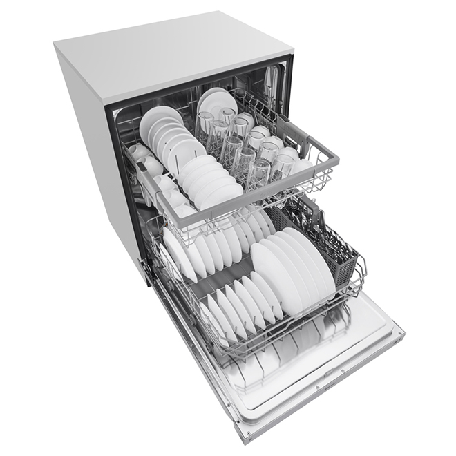 "Dishwasher with Quadwash System 24"" - Stainless Steel"