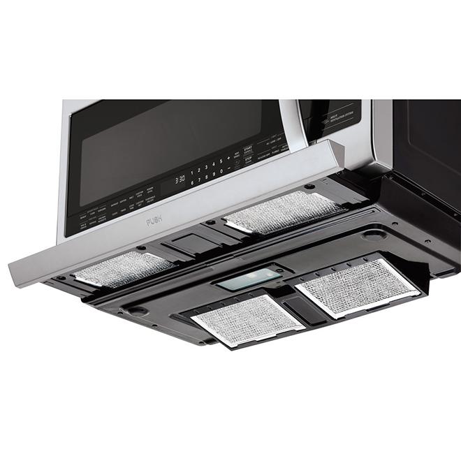 Four micro-ondes à hotte intégrée LG, 2,2 pi³, acier inoxydable