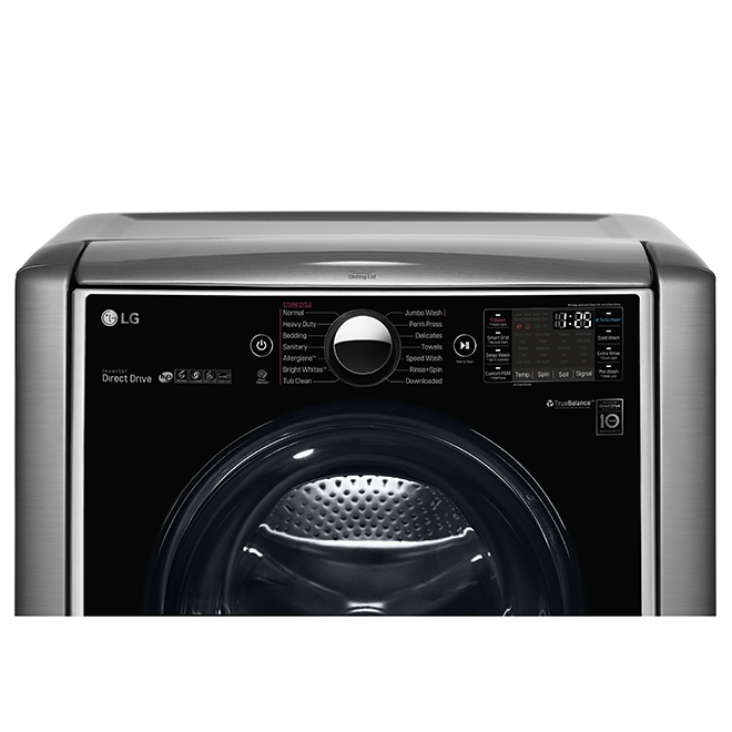 Front Load Washer with Steam - 6.0 cu. ft. - Graphite steel