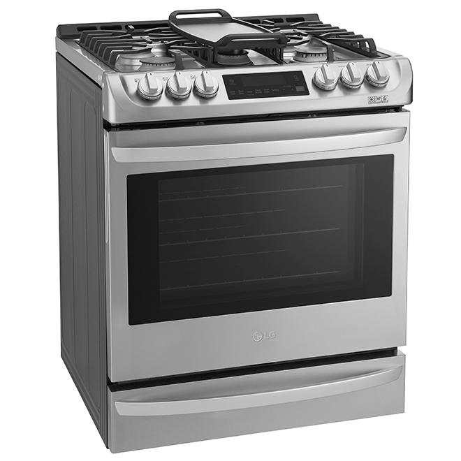 Cuisinière à gaz avec convection ProBake(MC), 6,3 pi³, inox