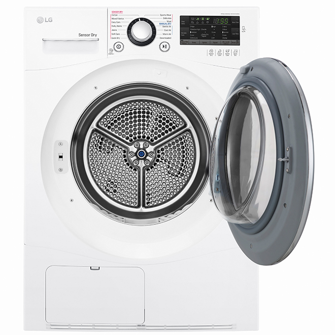 """LG Electrical Dryer - 24"""" - 4.2 cu. ft. - White"""