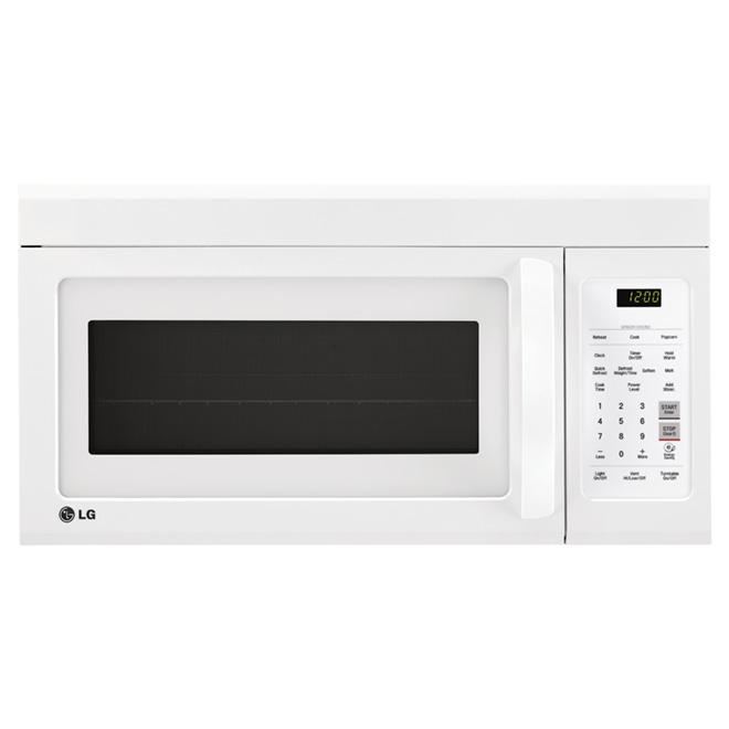 Four à micro-ondes par LG, intérieur EasyClean, 1,8 pi³, blanc