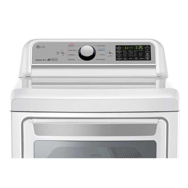 Electric Dryer with TurboSteam(TM)- 7.3 cu. ft. - White