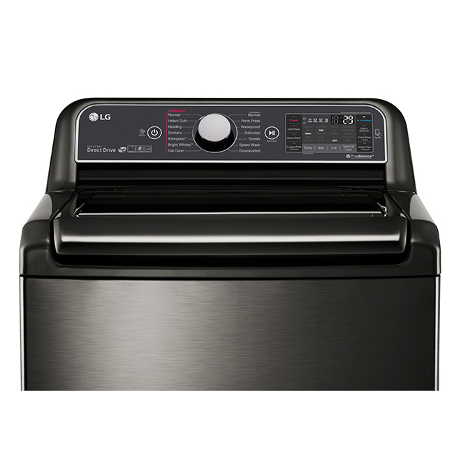 "Washer with Steam and TurboWash(R) - 27"" - 6 cu. ft.- Black"