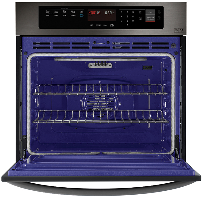 """Convection Wall Oven with EasyClean(R) - 30"""" - Black SS"""