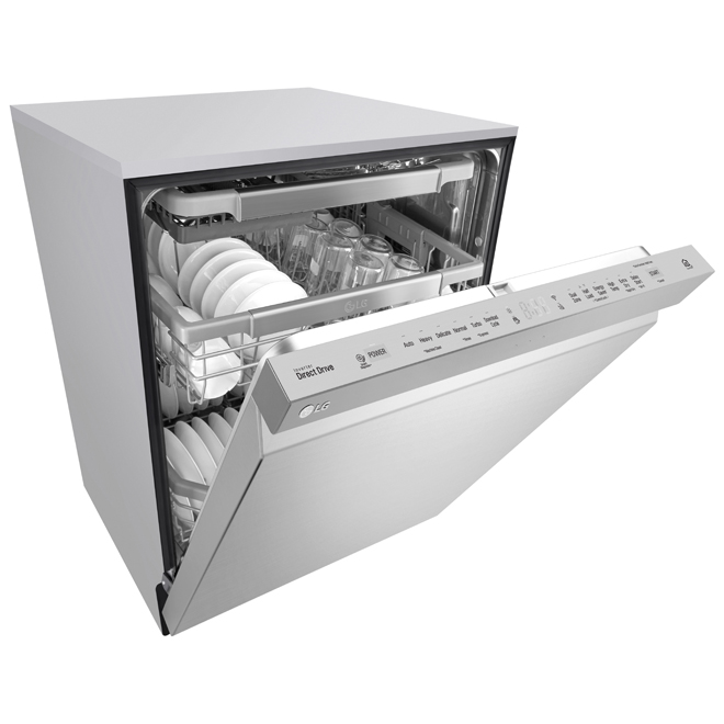 "Built-In Dishwasher with QuadWash(TM)- 24"" -Stainless Steel"