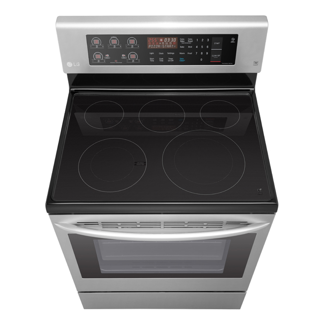 Electric Range with True Convection- 6.3 cu. ft.- Stainless
