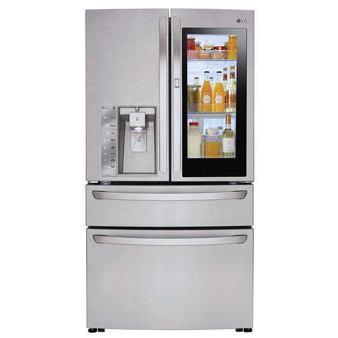 Réfrigérateur à portes françaises, 30 pi³, acier inoxydable