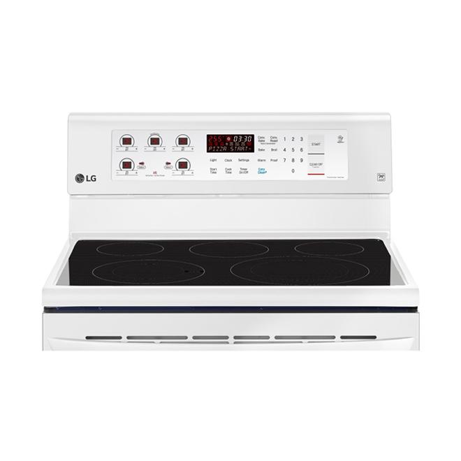Ceramic Glass Electric Range - Convection Oven - 6.3 pi³ - White