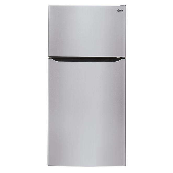 Top Freezer Refrigerator - 20 cu. ft. - Stainless Steel