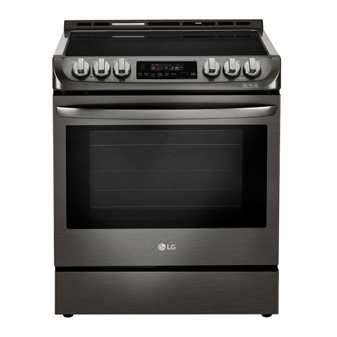 Slide-In Electric Range - 6.3 cu. ft. - Black Stainless Steel