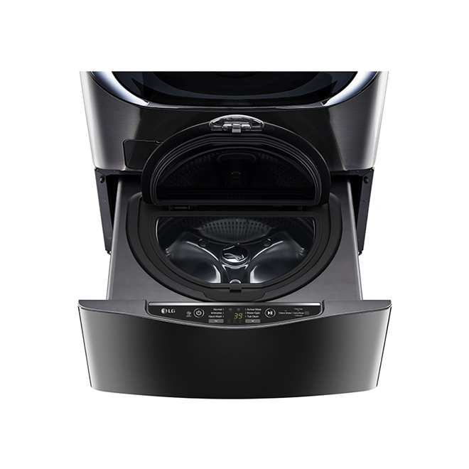 SideKick(TM) Pedestal Washer - 1.1 cu. ft. - Black SS