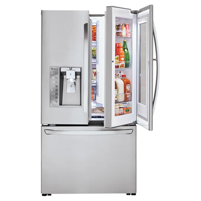 lg frigo portes fran aises porte dans la porte 36 30 pi lfxs30796s rona. Black Bedroom Furniture Sets. Home Design Ideas