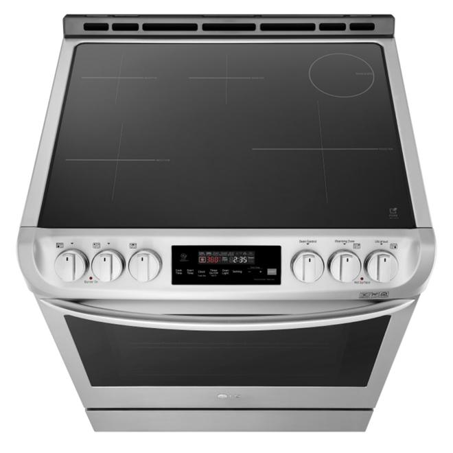 Cuisinière encastrable à induction, 6,3 pi³, inox