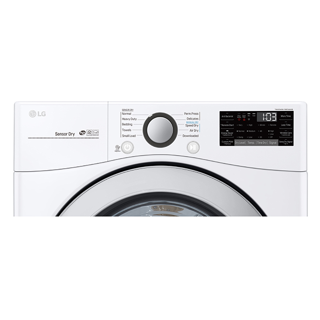 Wi-Fi Enabled Gas Dryer with Sensor Dry - 7.4cu.ft. - White