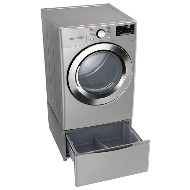 """27"""" Electric Dryer with TurboSteam - 7.4 cu. ft. - SS"""