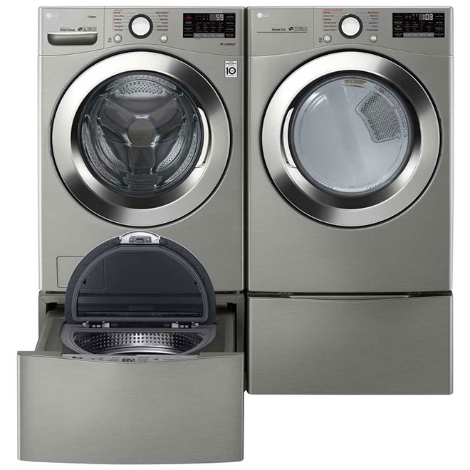 "27"" Electric Dryer with TurboSteam - 7.4 cu. ft. - SS"
