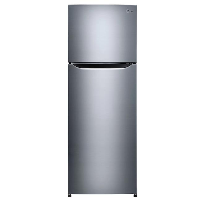 """Réfrigérateur à congélateur supérieur, 24"""", 11 pi³, inox"""