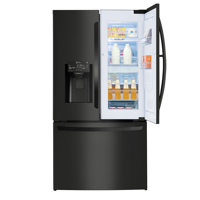 "LG Smart French-Door Refrigerator - 36"" - Matte Black"