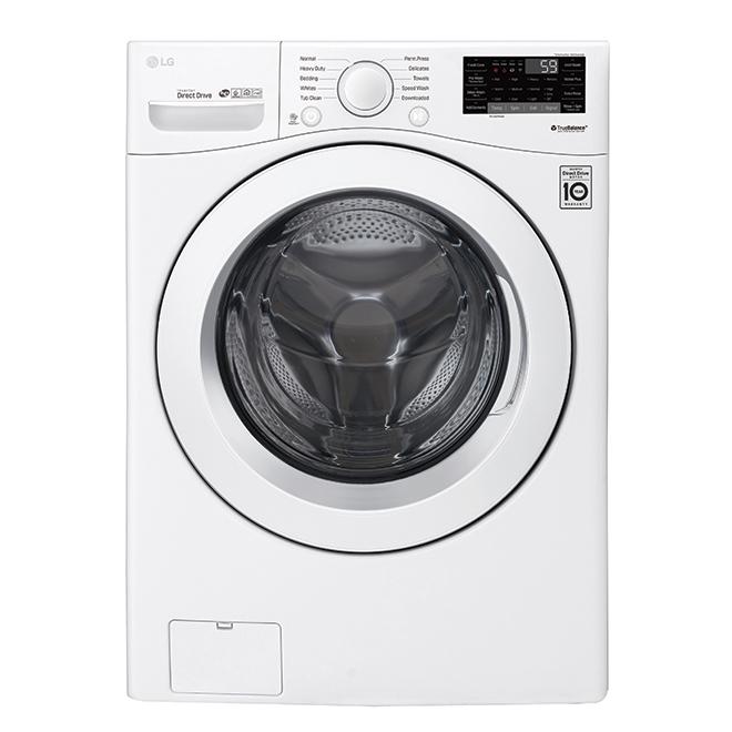 Laveuse à chargement frontal LG avec Wi-Fi, 5,2 pi³, blanc