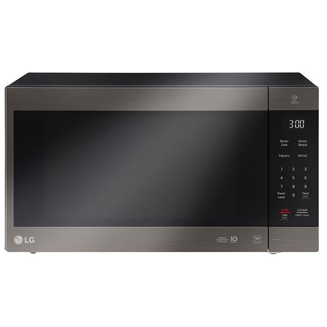 Four à micro-ondes LG de comptoir, 1200W, 2pi³, inox noir