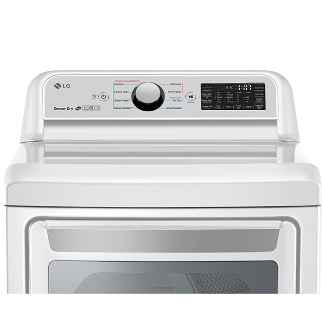 "Electric Dryer with TurboSteam(TM) - 7.3 pi³ - 27"" - White"