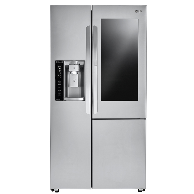 LG Side-by-Side Refrigerator with InstaView - 22 cu. ft. - SS