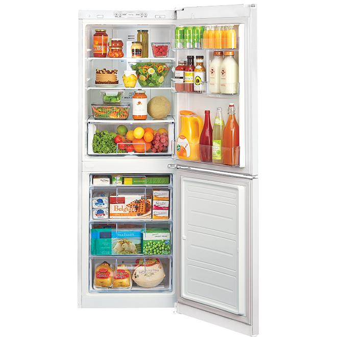 """Réfrigérateur à congélateur inférieur LG, 10,1 pi³, 24"""", blanc"""