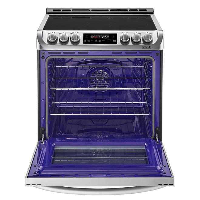 """Cuisinière électrique encastrable, 30"""", 6,3 pi³, inox"""