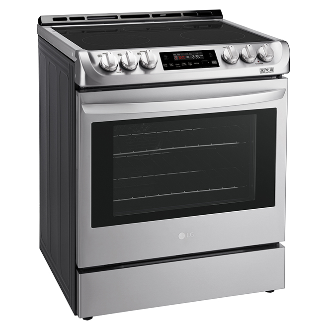 "Slide-In Electric Range - 30"" - 6.3 cu. ft. - Stainless Steel"