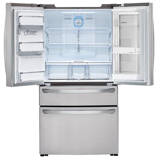 "LG French-Door Refrigerator - 36"" - 23 cu. ft. - SS"